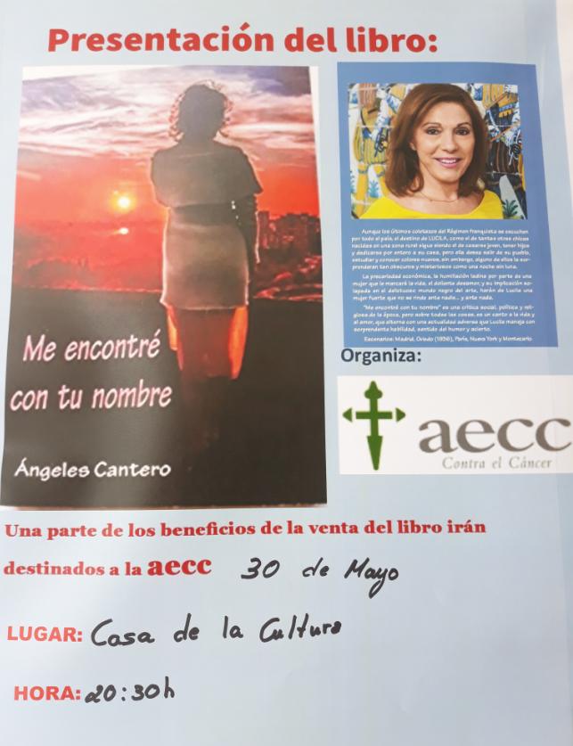 """PRESENTACIÓN DEL LIBRO: """"ME ENCONTRÉ CON TU NOMBRE"""". AUTORA: ÁNGELES CANTERO"""